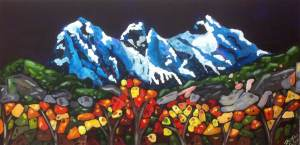 Midnight Three Sisters $420 24x48
